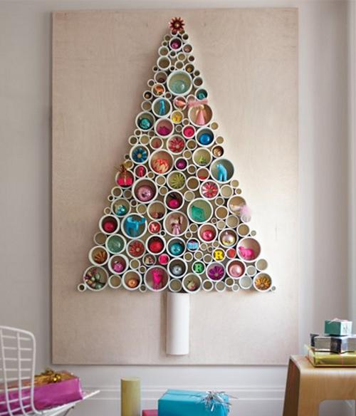 Ideias para decora o de rvores de natal rvore em - Arbol de navidad artesanal ...