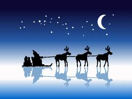 Papai Noel e as suas renas