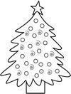 Árvore de Natal com Enfeites para Pintar