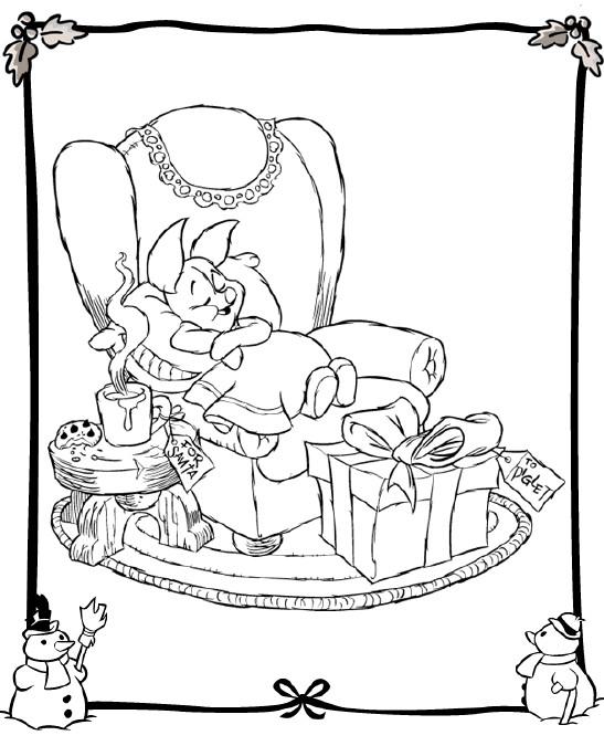 Natal Desenhos De Temas Disney Para Colorir